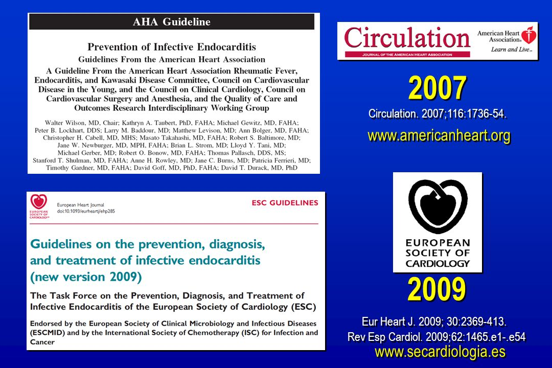 2007 2009 www.americanheart.org www.secardiologia.es