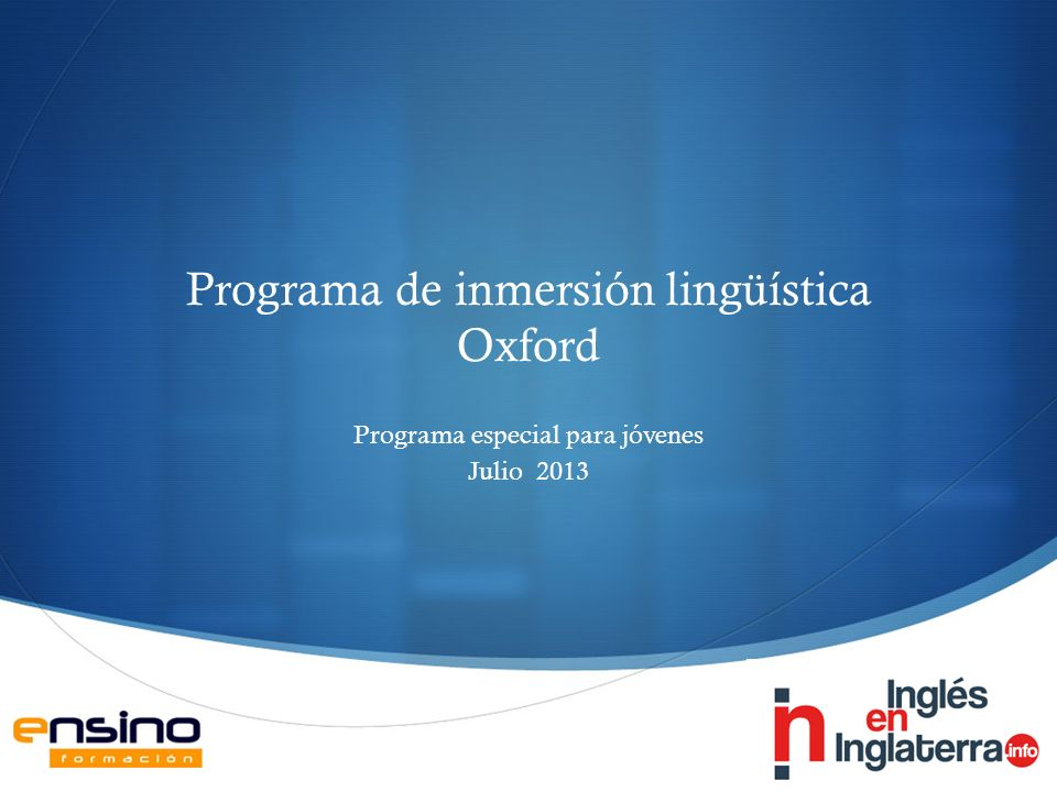 Programa de inmersión lingüística Oxford