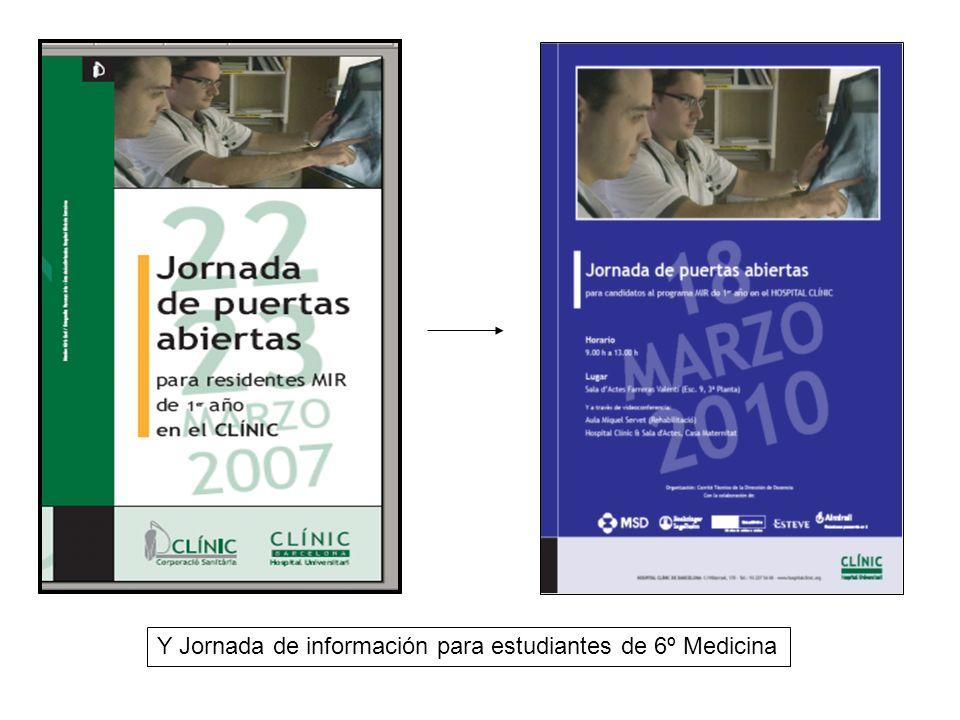 Y Jornada de información para estudiantes de 6º Medicina