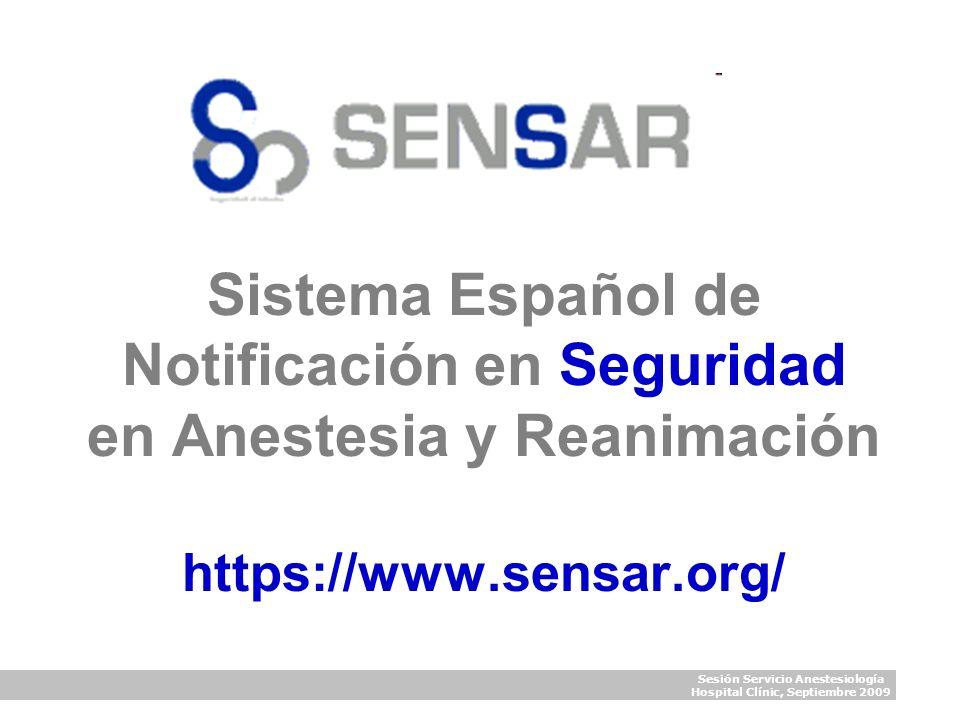 Sesión Servicio Anestesiología Hospital Clínic, Septiembre 2009