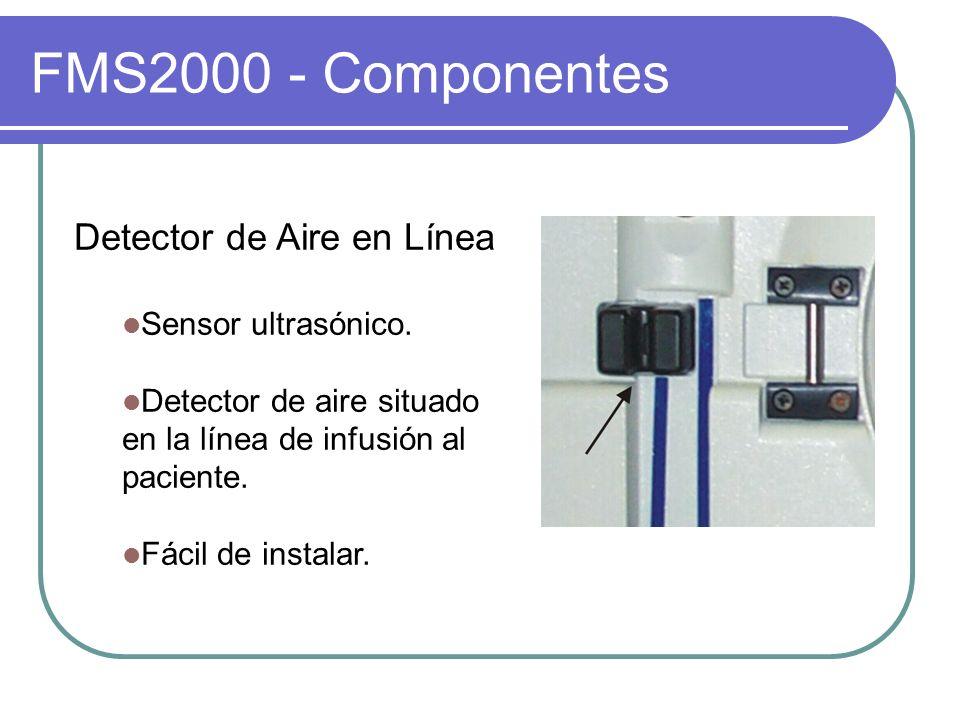 FMS2000 - Componentes Detector de Aire en Línea Sensor ultrasónico.