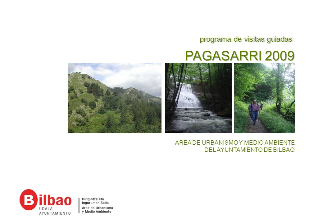 PAGASARRI 2009 programa de visitas guiadas