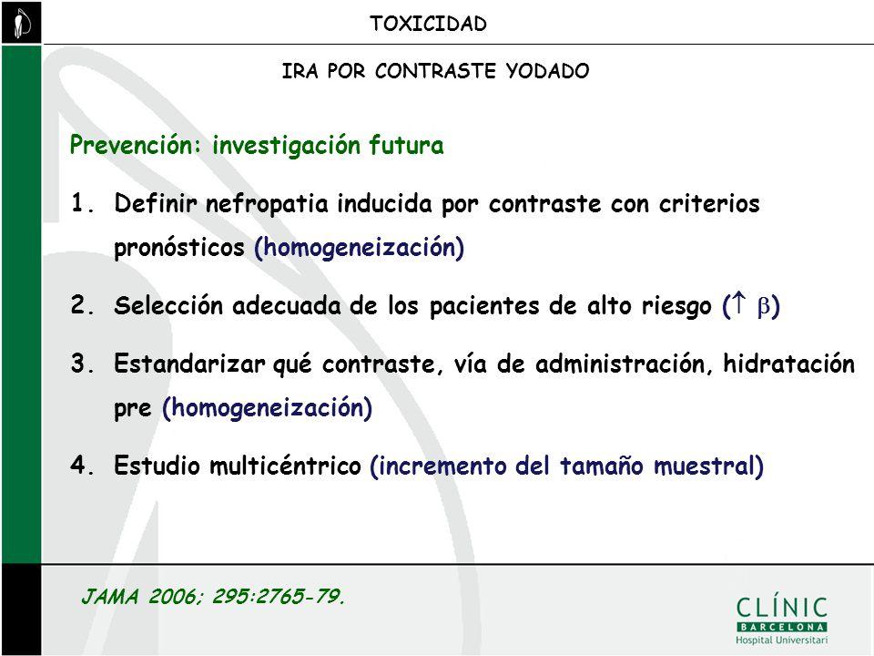 Prevención: investigación futura