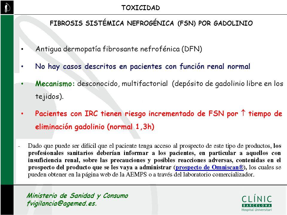 Antigua dermopatía fibrosante nefrofénica (DFN)