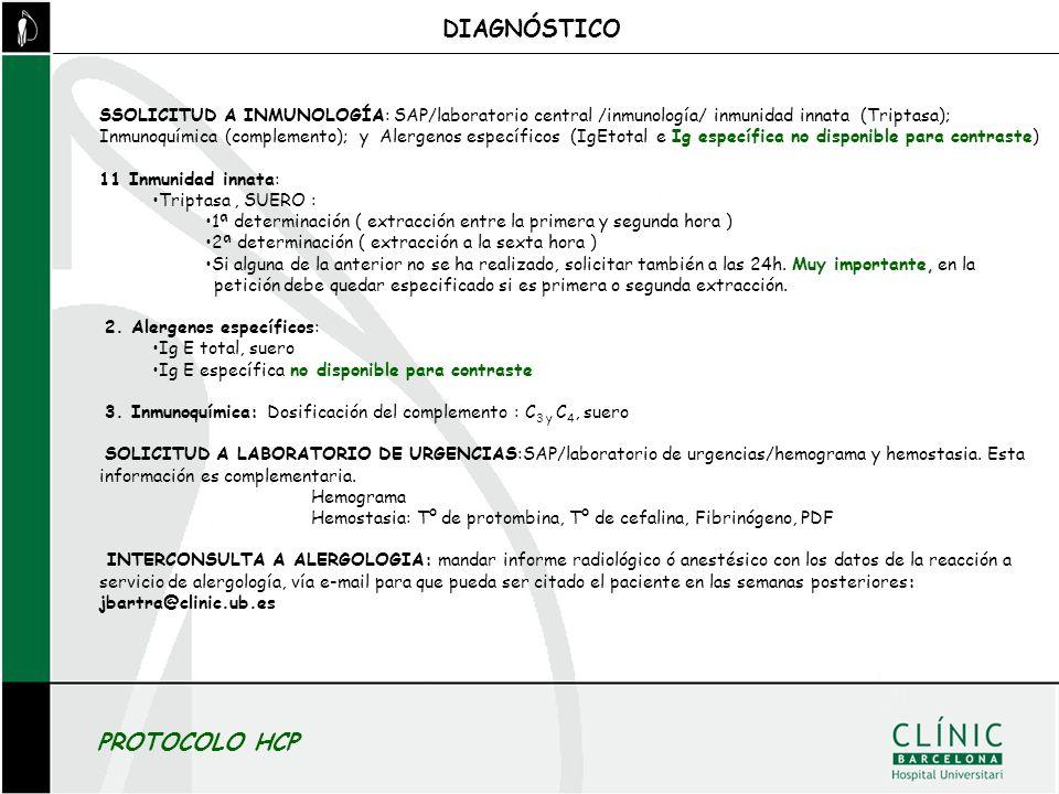 DIAGNÓSTICO PROTOCOLO HCP