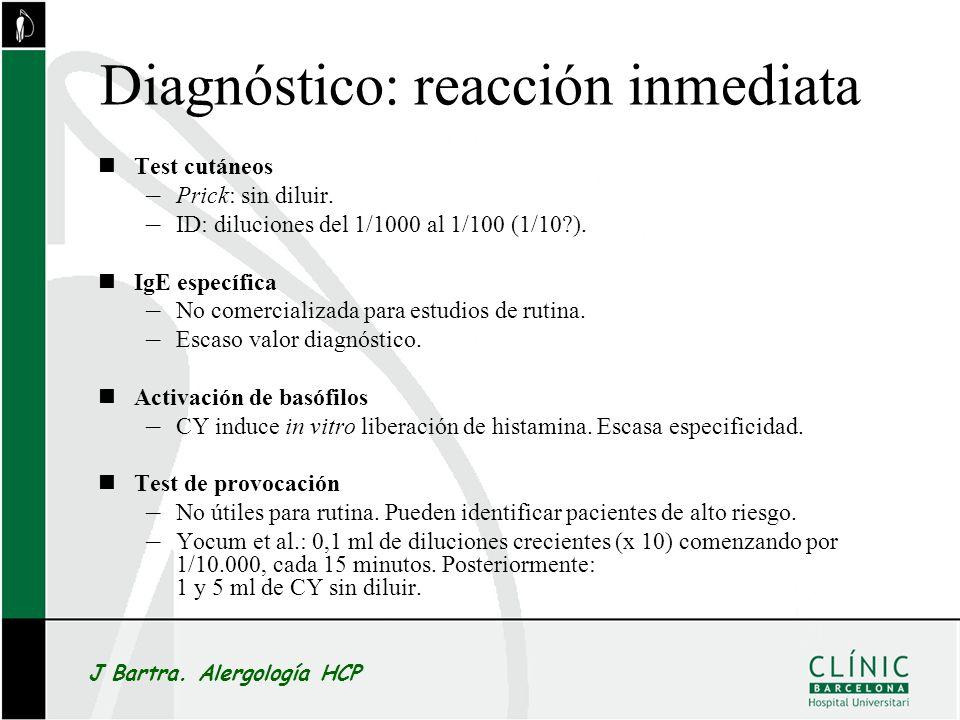 Diagnóstico: reacción inmediata