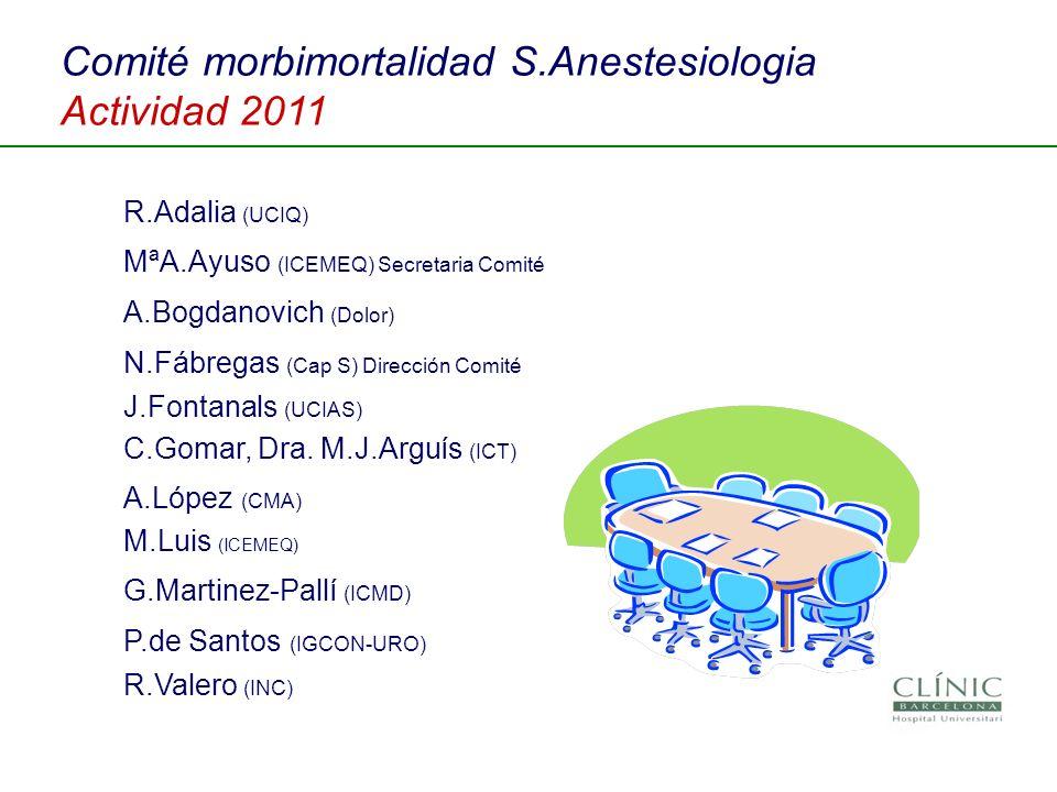 Comité morbimortalidad S.Anestesiologia Actividad 2011