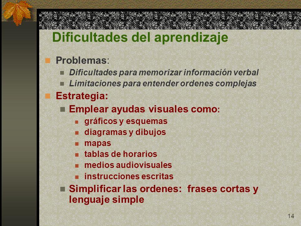 Dificultades del aprendizaje