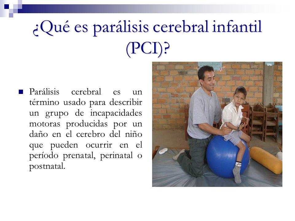 ¿Qué es parálisis cerebral infantil (PCI)