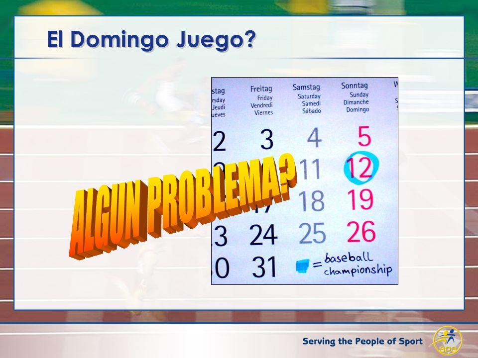 El Domingo Juego ALGUN PROBLEMA