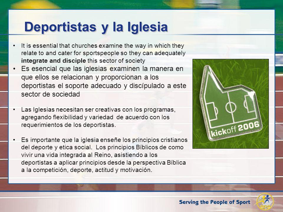 Deportistas y la Iglesia