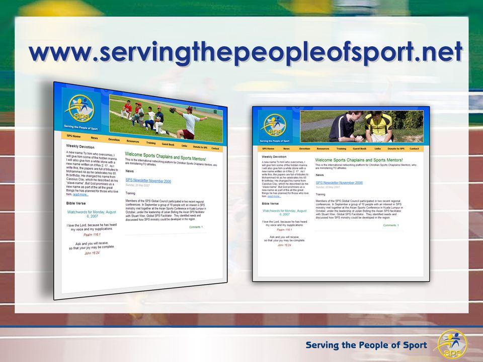 www.servingthepeopleofsport.net 21