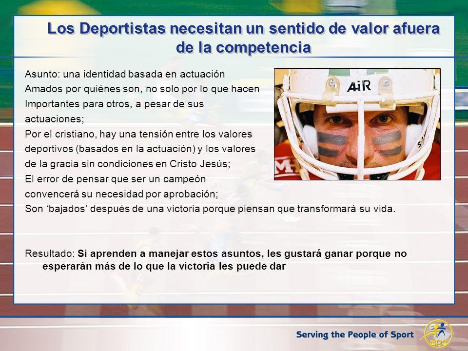 Los Deportistas necesitan un sentido de valor afuera de la competencia