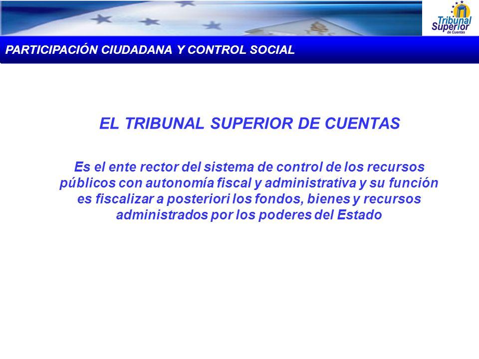 EL TRIBUNAL SUPERIOR DE CUENTAS