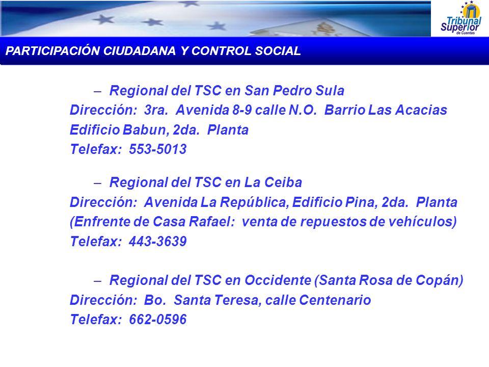 Regional del TSC en San Pedro Sula