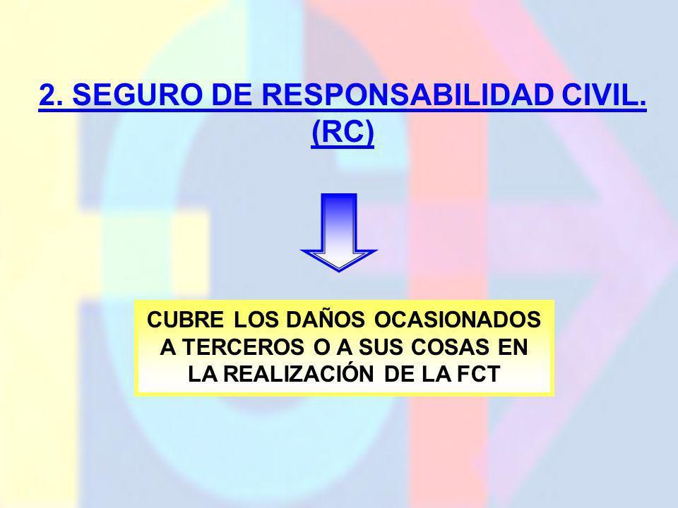 2. SEGURO DE RESPONSABILIDAD CIVIL. (RC)