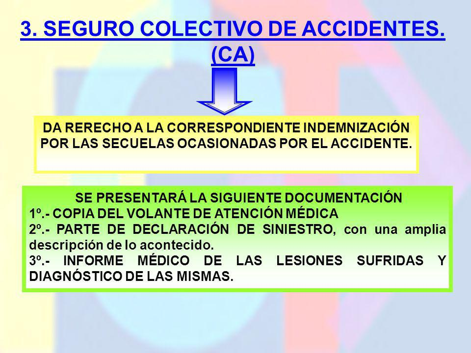 3. SEGURO COLECTIVO DE ACCIDENTES. (CA)