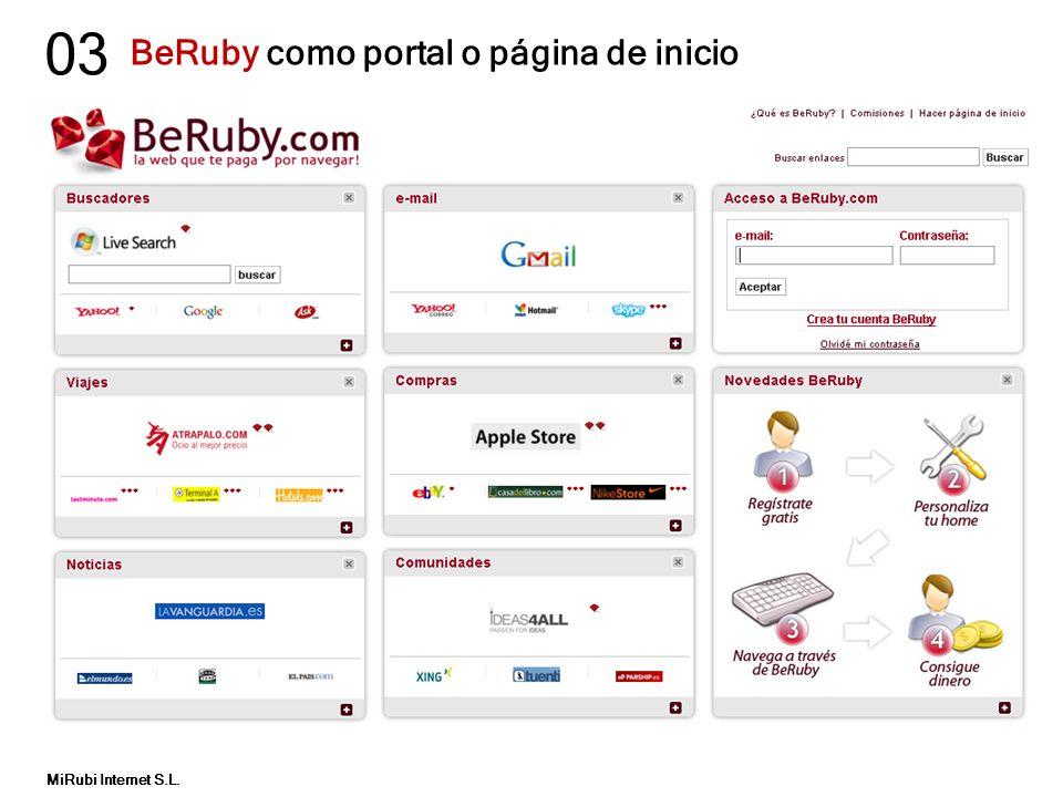 BeRuby como portal o página de inicio