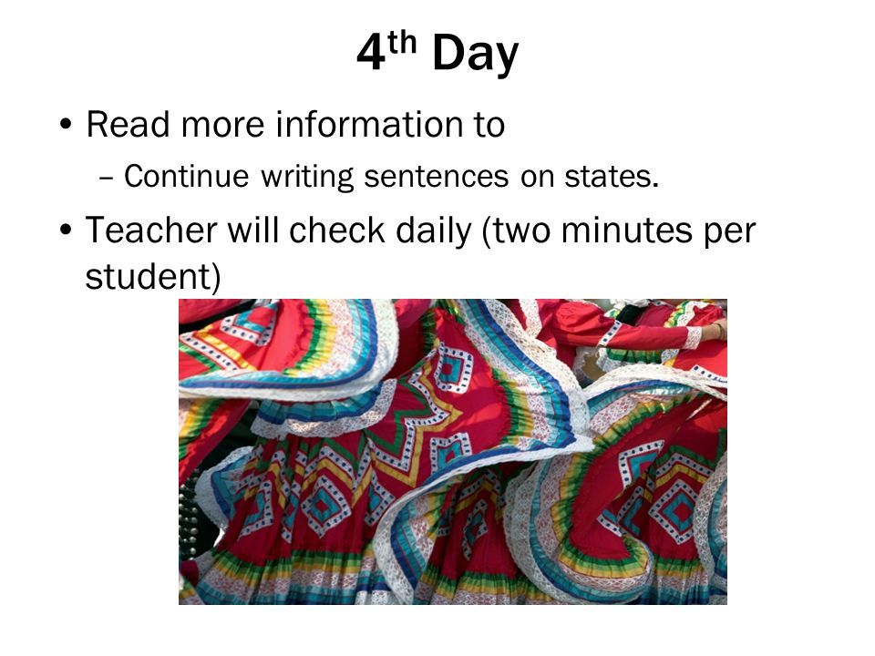 4th Day Read more information to
