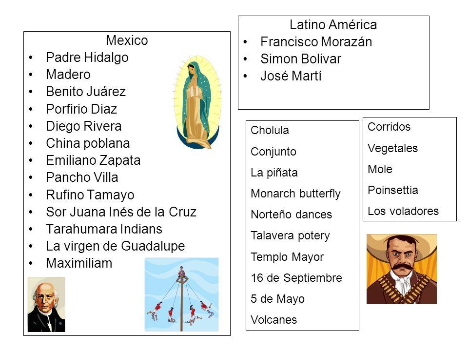 Sor Juana Inés de la Cruz Tarahumara Indians La virgen de Guadalupe