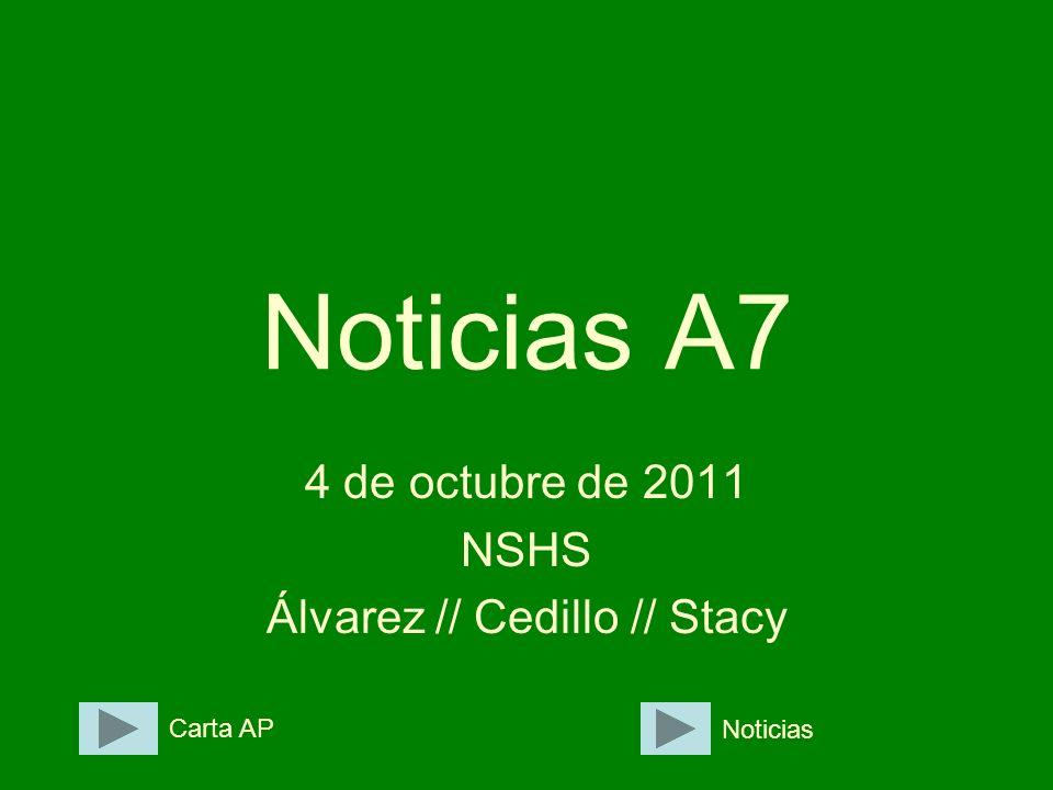 4 de octubre de 2011 NSHS Álvarez // Cedillo // Stacy