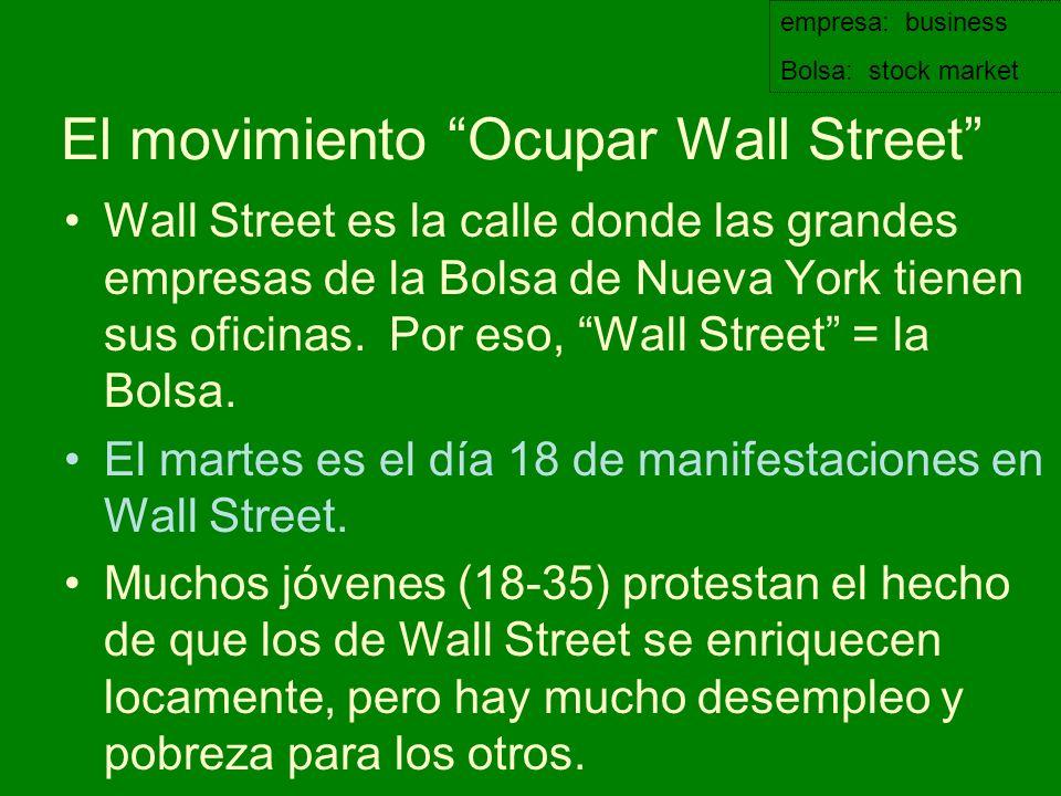 El movimiento Ocupar Wall Street