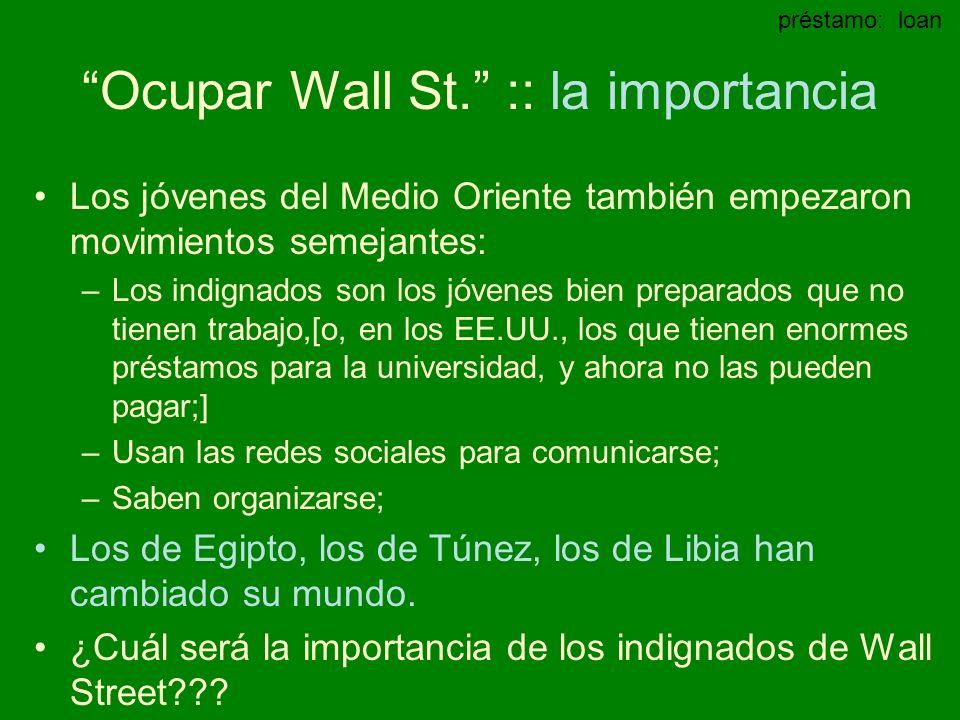 Ocupar Wall St. :: la importancia