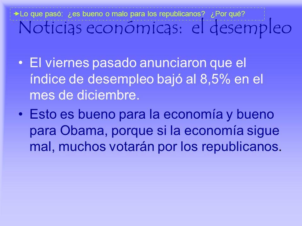 Noticias económicas: el desempleo