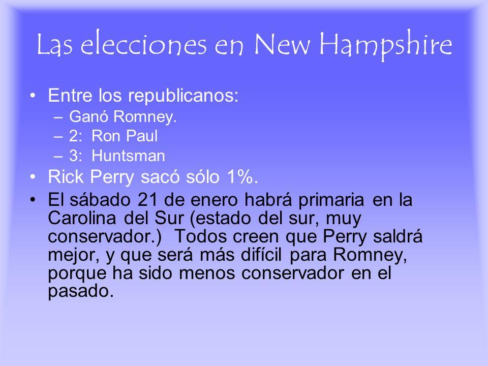 Las elecciones en New Hampshire