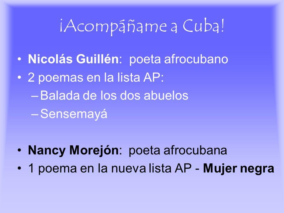 ¡Acompáñame a Cuba! Nicolás Guillén: poeta afrocubano