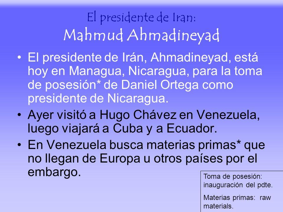 El presidente de Iran: Mahmud Ahmadineyad