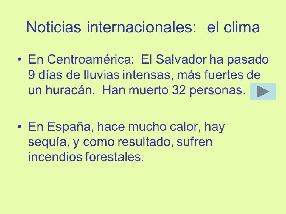 Noticias internacionales: el clima