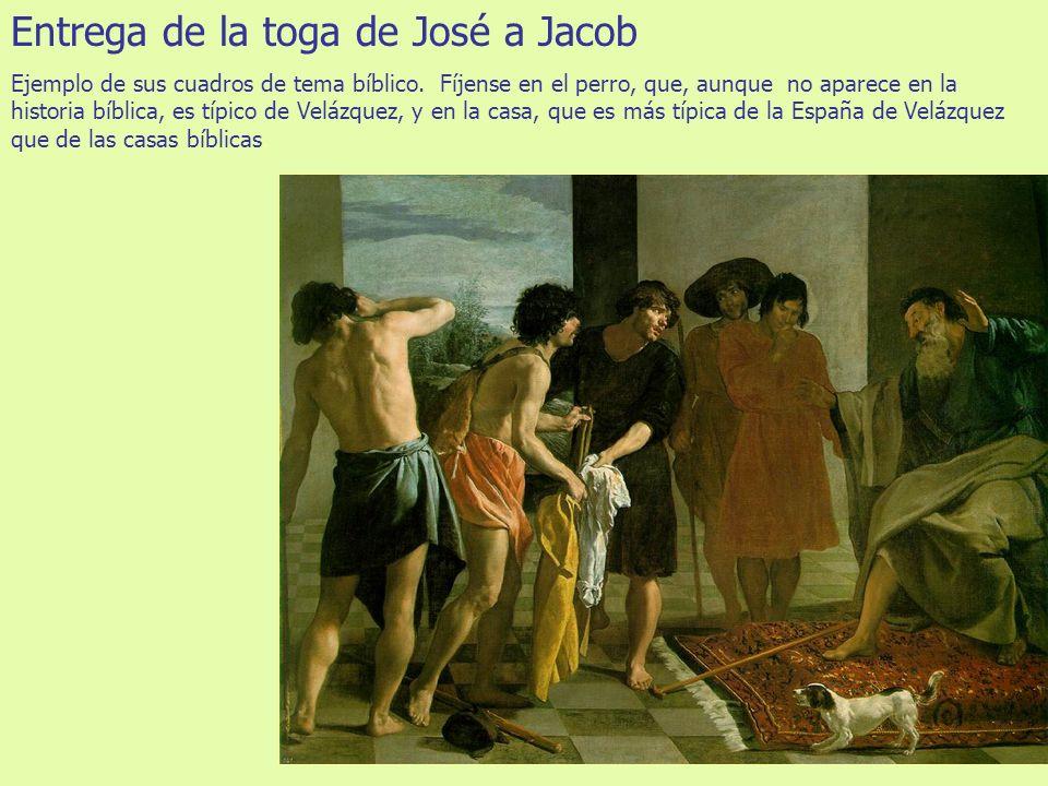 Entrega de la toga de José a Jacob