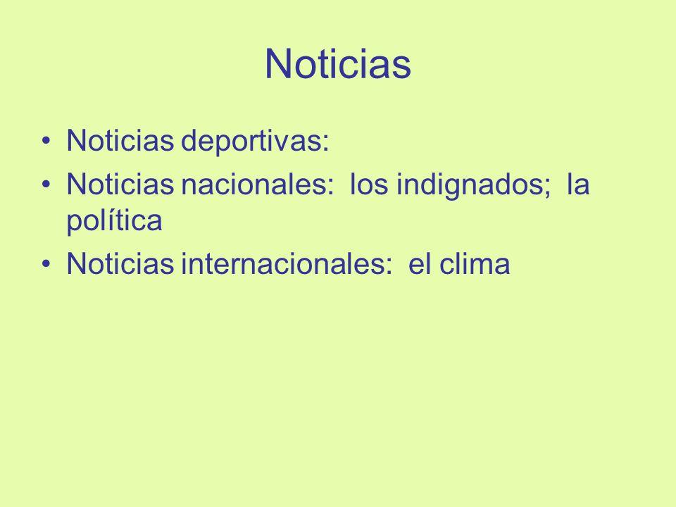 Noticias Noticias deportivas: