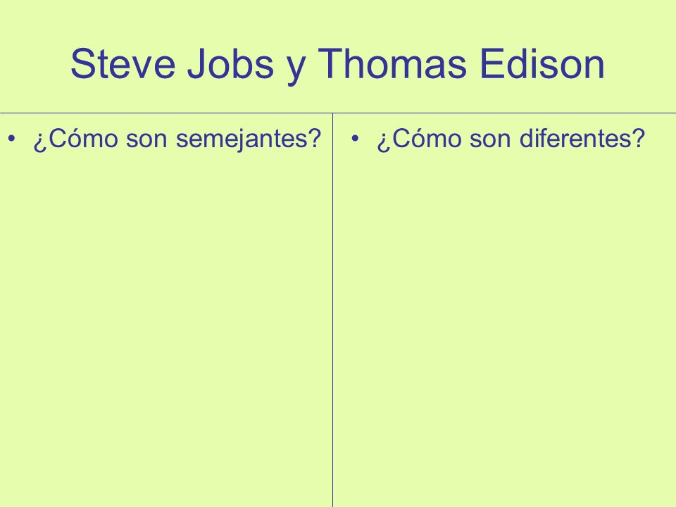Steve Jobs y Thomas Edison