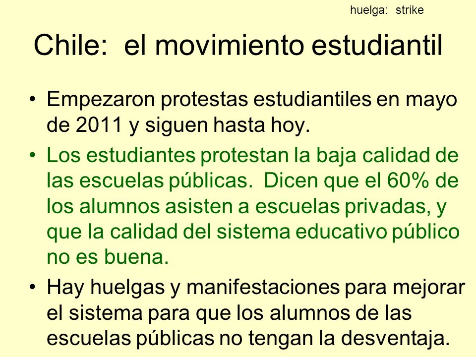 Chile: el movimiento estudiantil