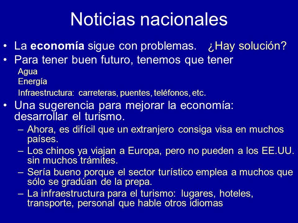 Noticias nacionales La economía sigue con problemas. ¿Hay solución