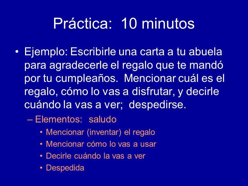 Práctica: 10 minutos