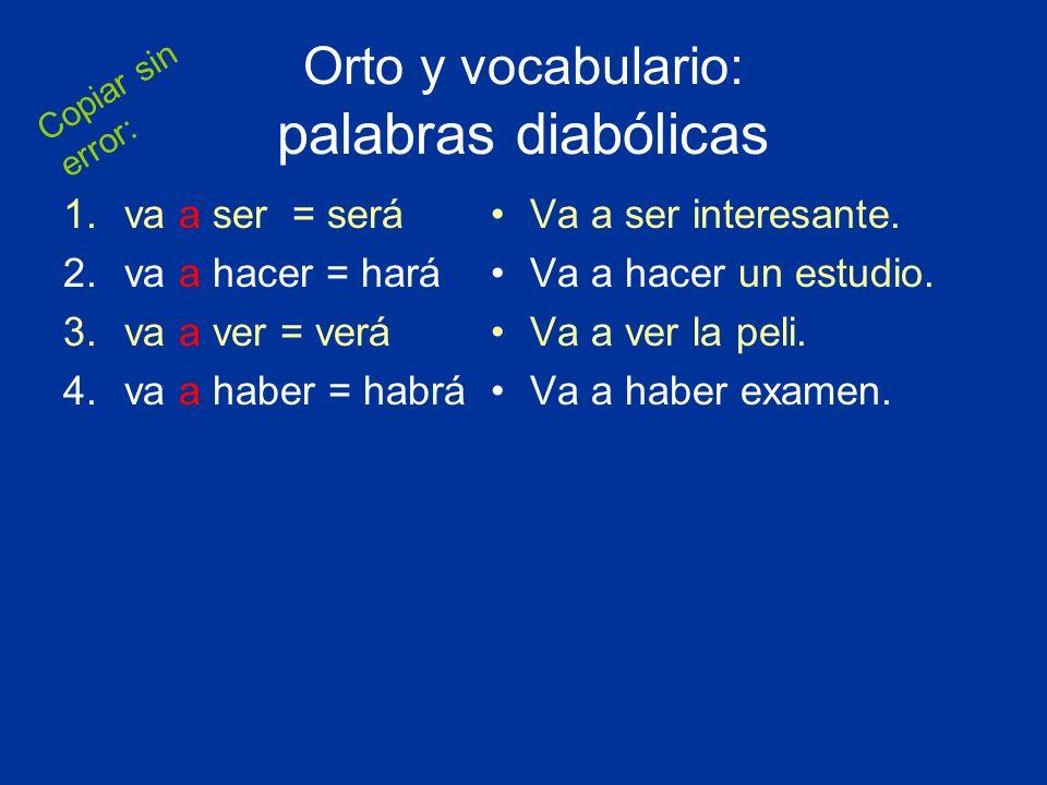 Orto y vocabulario: palabras diabólicas