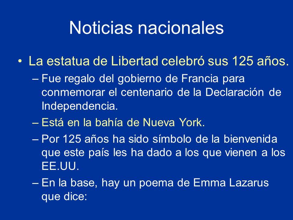 Noticias nacionales La estatua de Libertad celebró sus 125 años.
