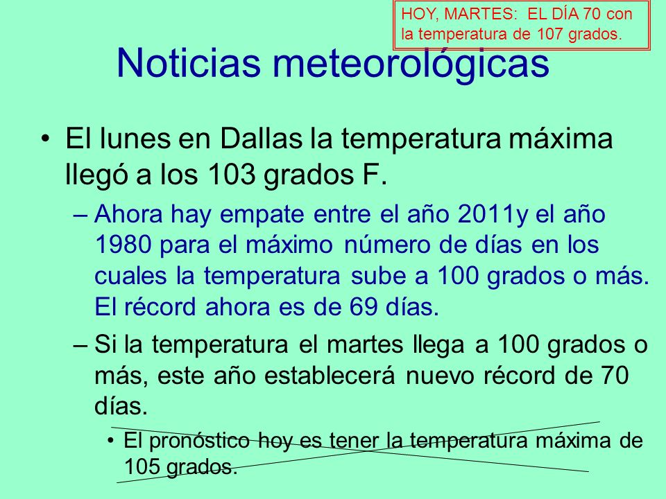 Noticias meteorológicas