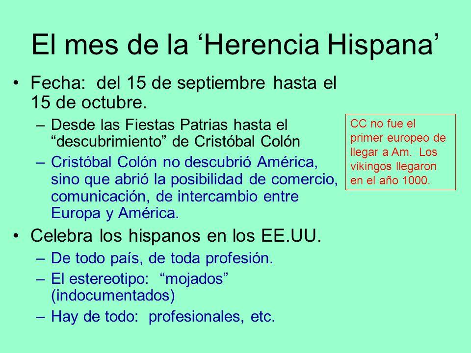 El mes de la 'Herencia Hispana'