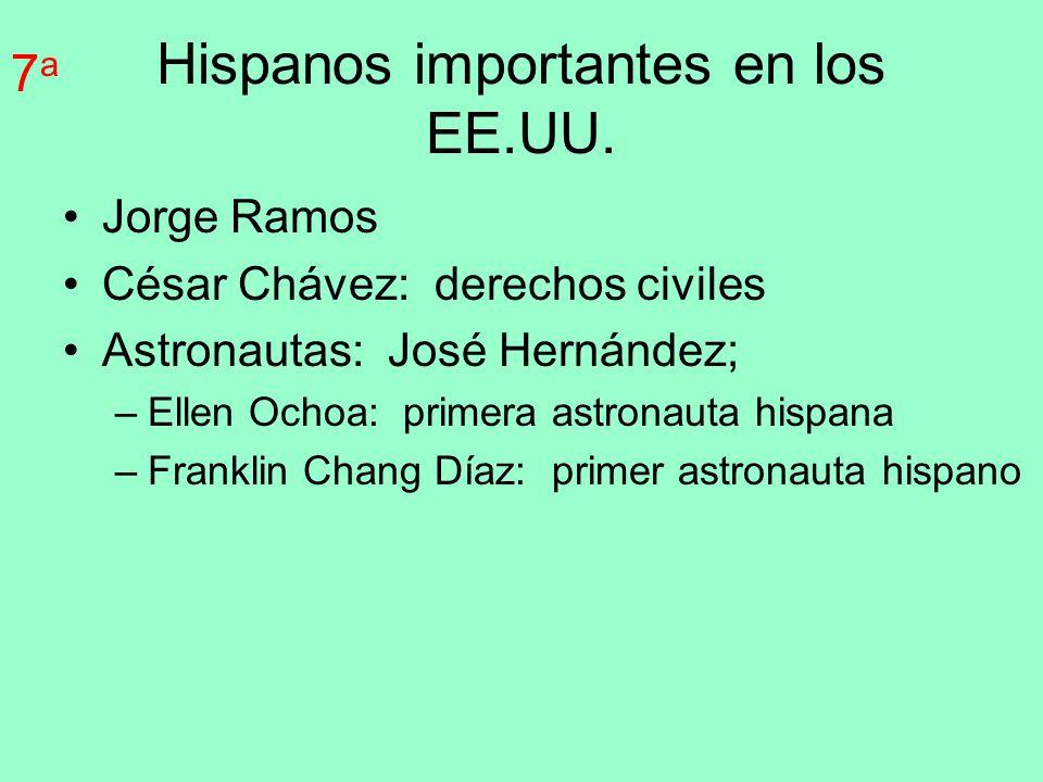 Hispanos importantes en los EE.UU.