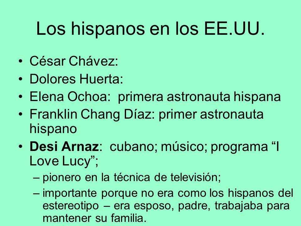 Los hispanos en los EE.UU.