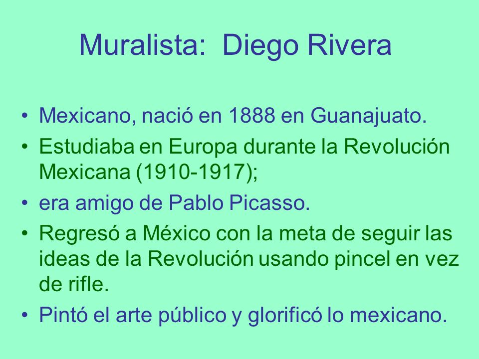 Muralista: Diego Rivera