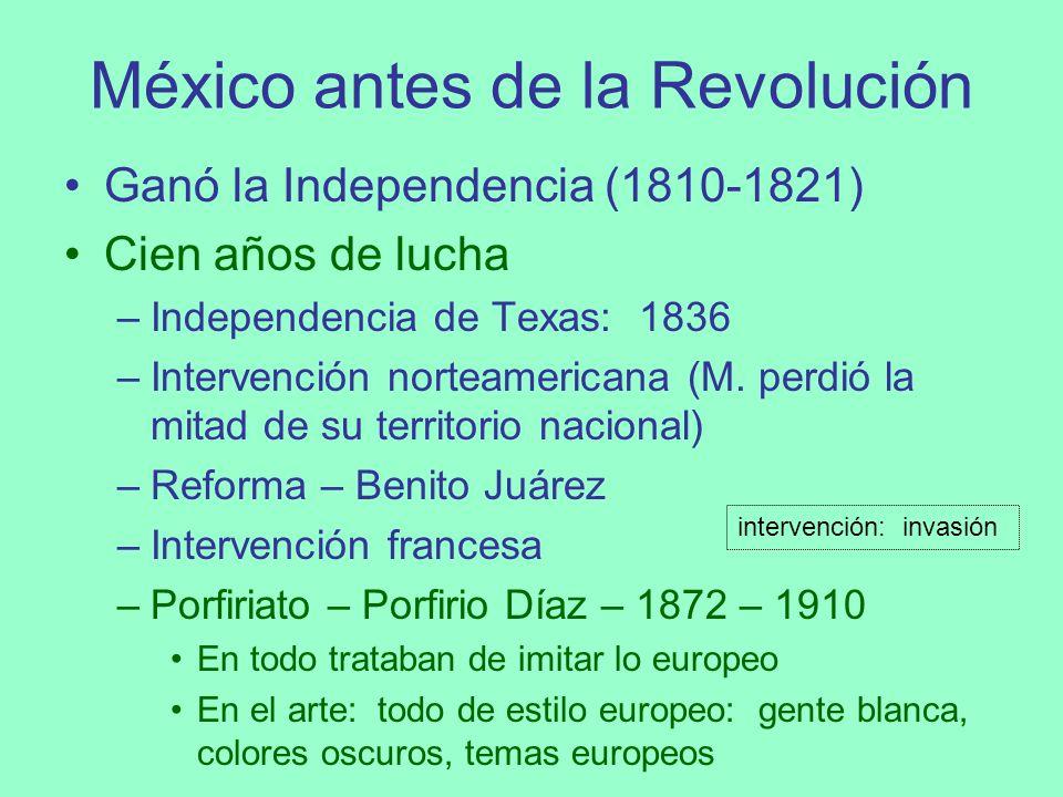 México antes de la Revolución