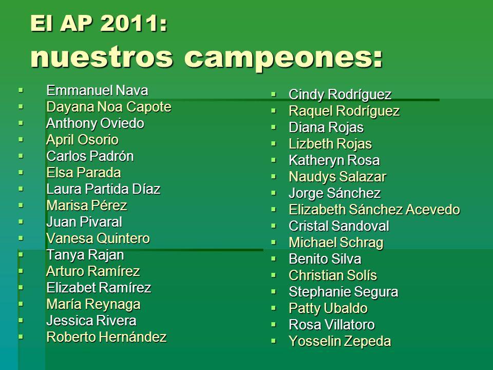 El AP 2011: nuestros campeones: