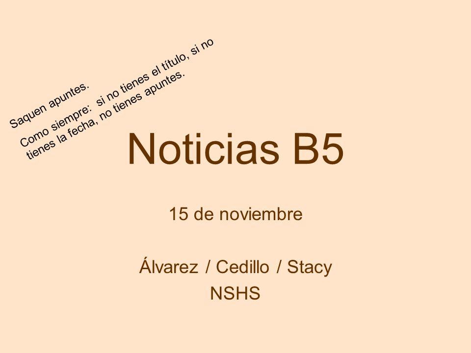 15 de noviembre Álvarez / Cedillo / Stacy NSHS