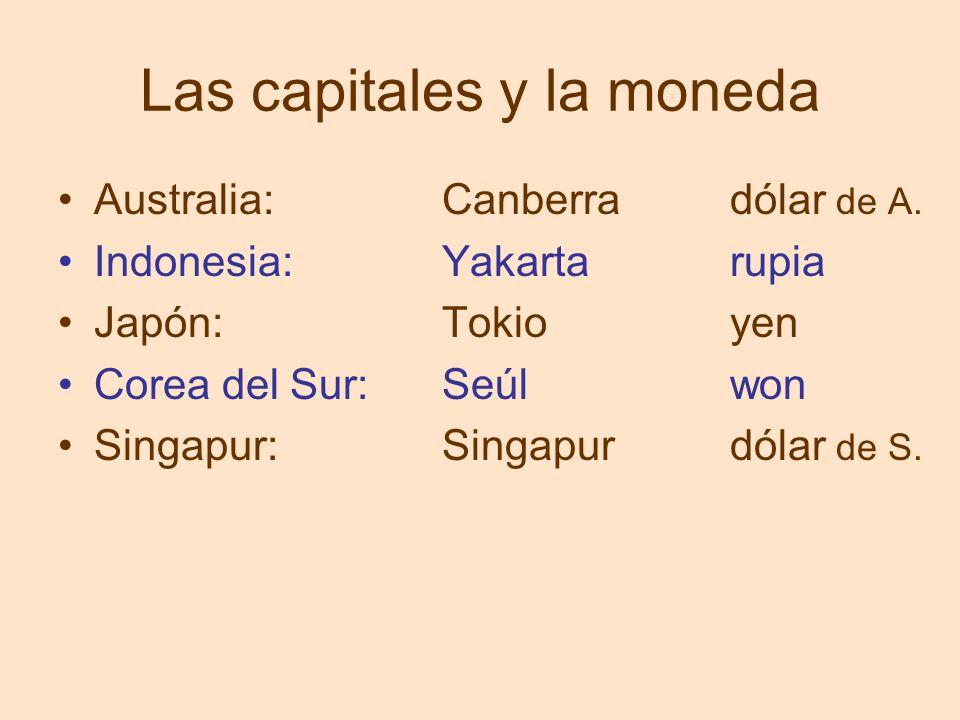 Las capitales y la moneda