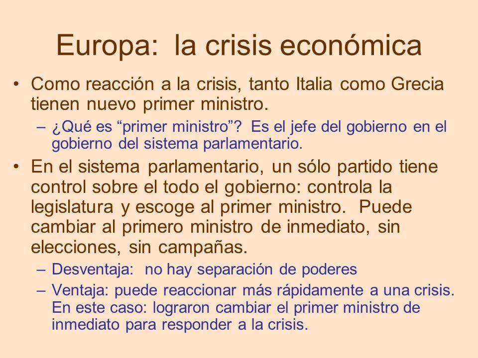 Europa: la crisis económica
